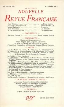 Nouvelle revue française, n° 52 -