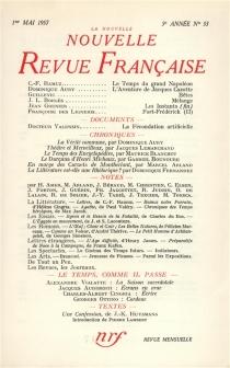 Nouvelle revue française, n° 53 -