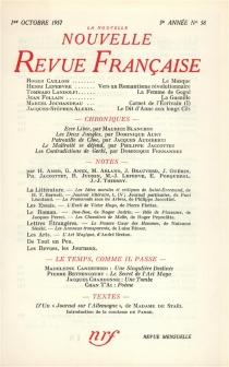 Nouvelle revue française, n° 58 -
