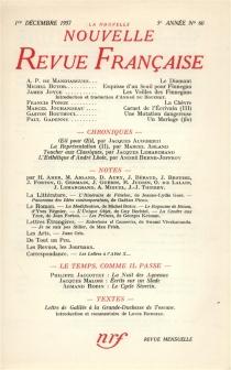 Nouvelle revue française, n° 60 -