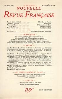 Nouvelle revue française, n° 65 -