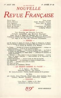 Nouvelle revue française, n° 68 -