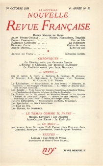 Nouvelle revue française, n° 70 -