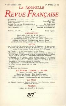Nouvelle revue française, n° 96 -