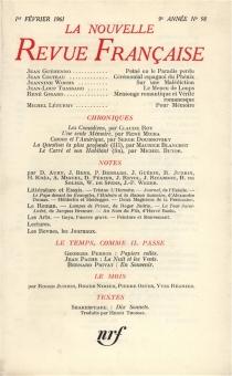 Nouvelle revue française, n° 98 -