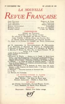 Nouvelle revue française, n° 119 -
