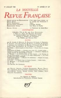 Nouvelle revue française, n° 127 -