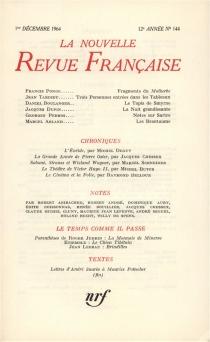Nouvelle revue française, n° 144 -