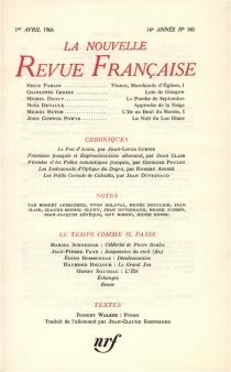 Nouvelle revue française, n° 160 -