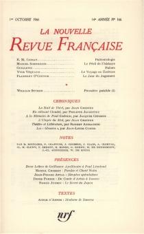 Nouvelle revue française, n° 166 -