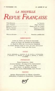 Nouvelle revue française, n° 167 -