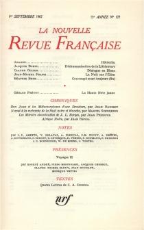 Nouvelle revue française, n° 177 -