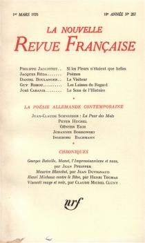 Nouvelle revue française, n° 207 -