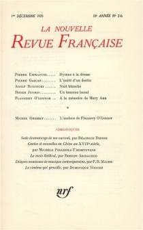 Nouvelle revue française, n° 216 -