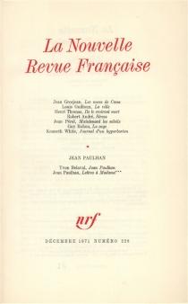 Nouvelle revue française, n° 228 -