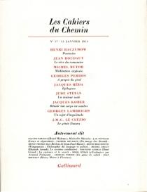 Cahiers du chemin (Les), n° 17 -