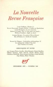 Nouvelle revue française, n° 240 -