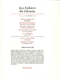 Cahiers du chemin (Les), n° 19 -