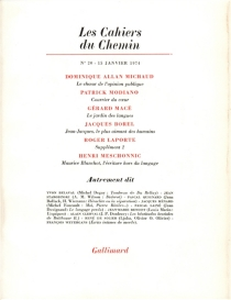Cahiers du chemin (Les), n° 20 -