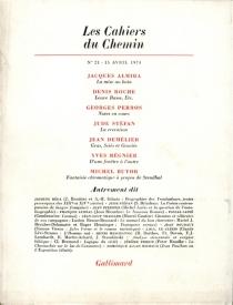 Cahiers du chemin (Les), n° 21 -