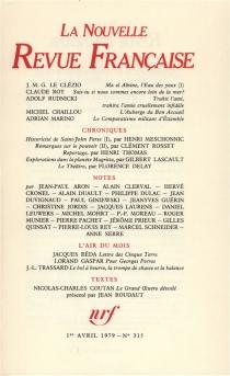 Nouvelle revue française, n° 315 -