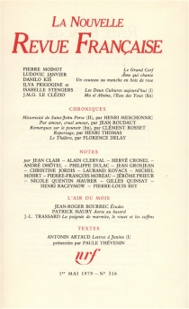 Nouvelle revue française, n° 316 -