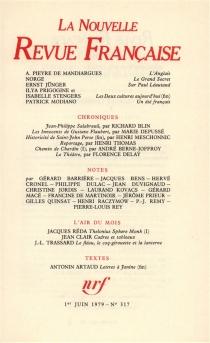 Nouvelle revue française, n° 317 -