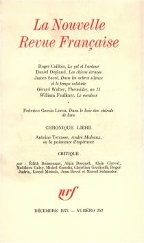 Nouvelle revue française, n° 252 -