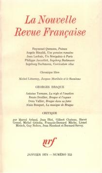 Nouvelle revue française, n° 253 -