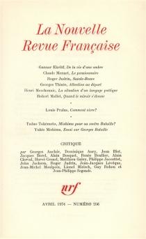 Nouvelle revue française, n° 256 -