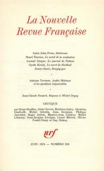 Nouvelle revue française, n° 258 -