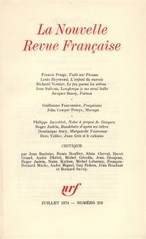 Nouvelle revue française, n° 259 -