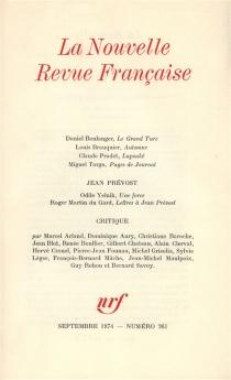 Nouvelle revue française, n° 261 -