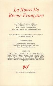 Nouvelle revue française, n° 267 -