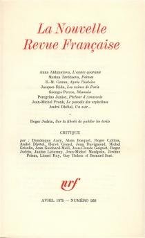 Nouvelle revue française, n° 268 -