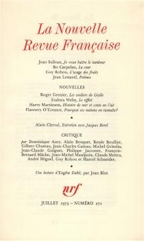 Nouvelle revue française, n° 271 -