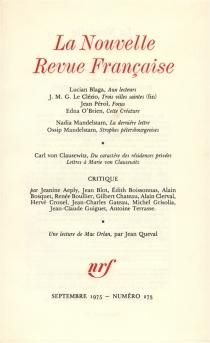 Nouvelle revue française, n° 273 -
