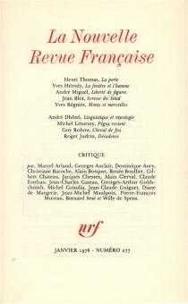 Nouvelle revue française, n° 277 -
