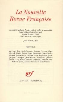 Nouvelle revue française, n° 282 -
