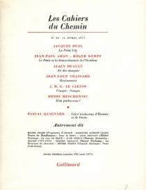 Cahiers du chemin (Les), n° 30 -