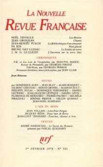 Nouvelle revue française, n° 301 -