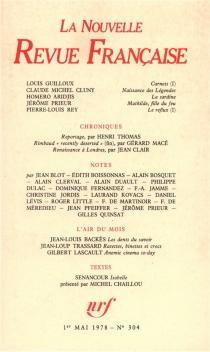 Nouvelle revue française, n° 304 -