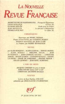 Nouvelle revue française, n° 305 -