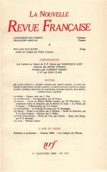 Nouvelle revue française, n° 372 -