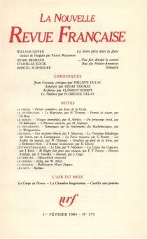 Nouvelle revue française, n° 373 -