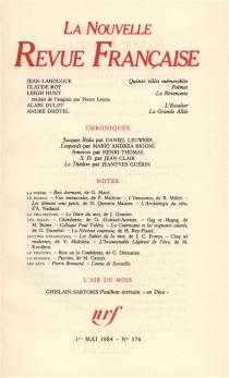 Nouvelle revue française, n° 376 -