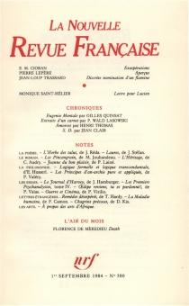 Nouvelle revue française, n° 380 -