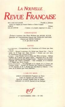 Nouvelle revue française, n° 382 -