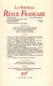 Nouvelle revue française, n° 388 -