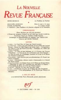 Nouvelle revue française, n° 393 -